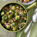 Calories: 38 per cup Brussels sprouts are super-low in calories but loaded with cancer-preventing phytonutrients and fiber. These veggies, sometimes called little cabbages, get a bad rap, but they taste great with a sweet or tangy sauce